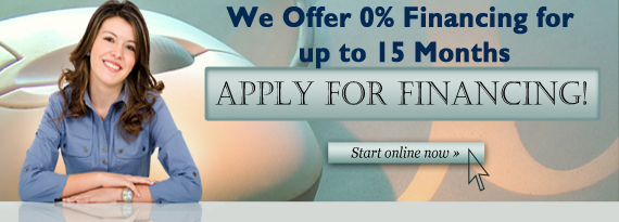 We Offer 0% financing for up to 15 months